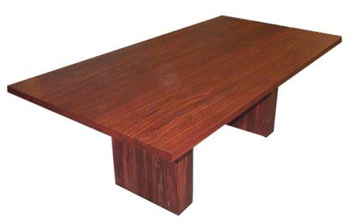 Table Dining Slab Thick Base Jarrah