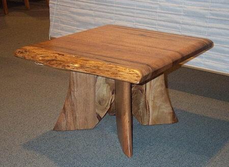 Table Lamp Natural Edge Marri