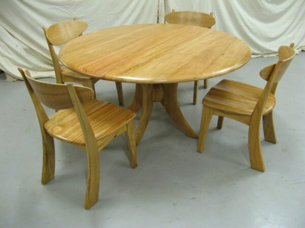Table Dining Sphere With Wooden Seat Muchison Chairs 4 559 Kuzub 004
