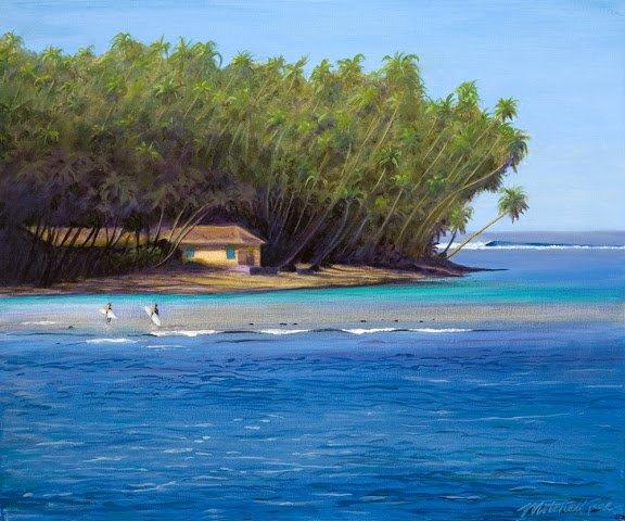 Telos Islands 60X50Cm Acrylic On Canvas