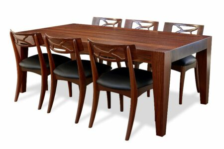 The Block Dining Table With Filigree Chairs1