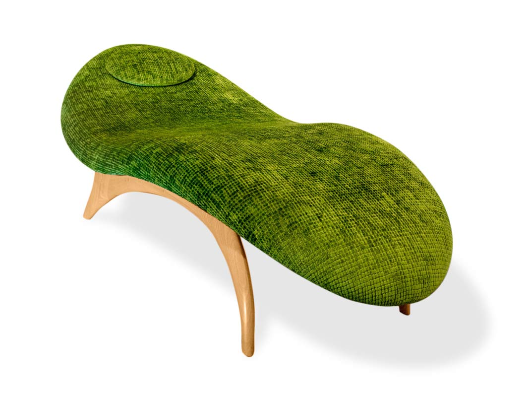 Jahroc Furniture Mangrove Chaise With Castellani Forest Fabric 4
