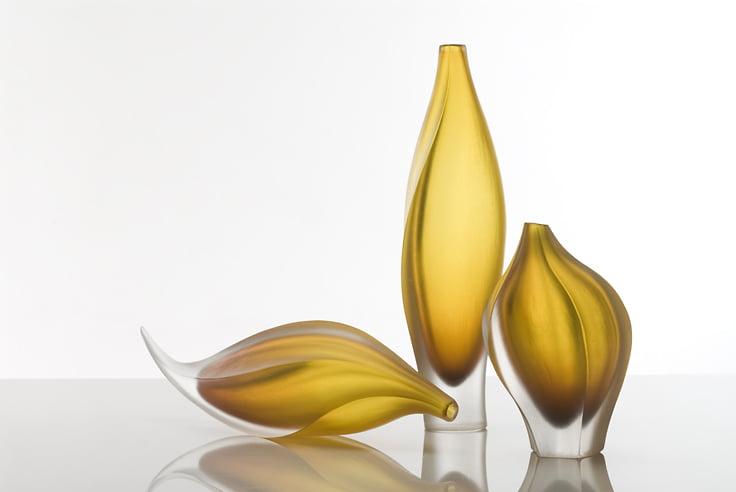Edols and Elliott   Series of 3 Amber Forms Fine Art