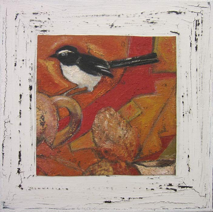 Helen Forbes   Willie Wagtail on Banksia Fine Art