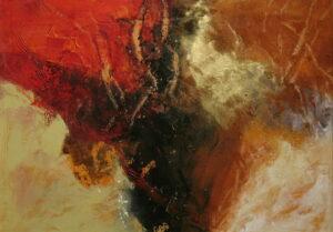 Jeannette Dyson Red Earth 81X57Cm Frame 2800