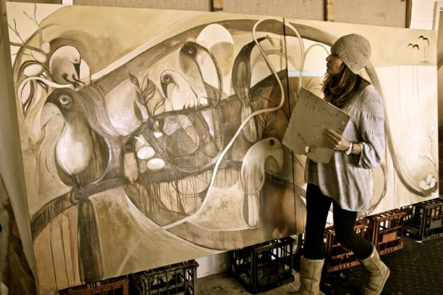 Jos Myers Painting The Nest New