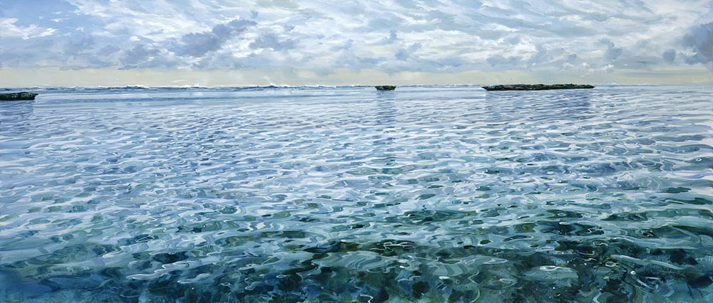 Larry Mitchell   Evening On The Reef Fine Art