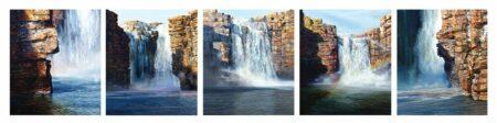Larry Mitchell Mitchell Falls 5 Panels 70 X 60 Cm