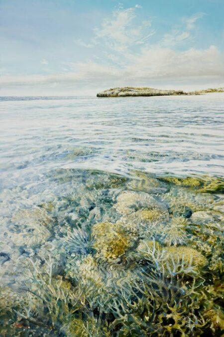 Larry Mitchell Off Varanus Island 100x150cm