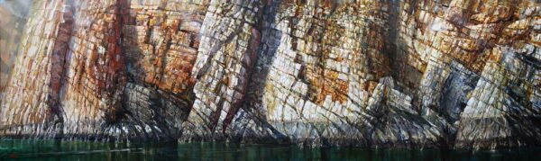 Larry Mitchell Tide Line Oil On Canvas 305X90Cm