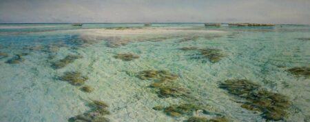 Larry Mtchell Sandy Island Abrolhos 3mx120cm