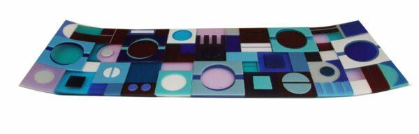 Margaret Heenan Great Blue Divide Slumped Glass