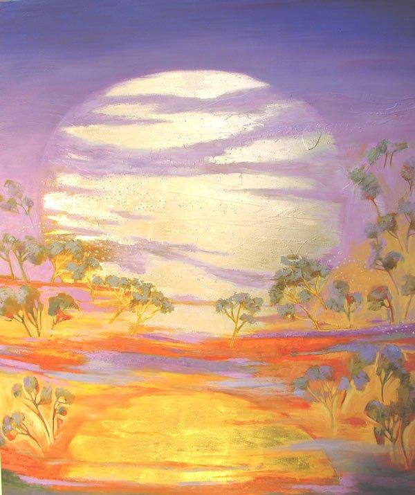 Astrid Dahl   My Moon Rises with Your Sun Fine Art