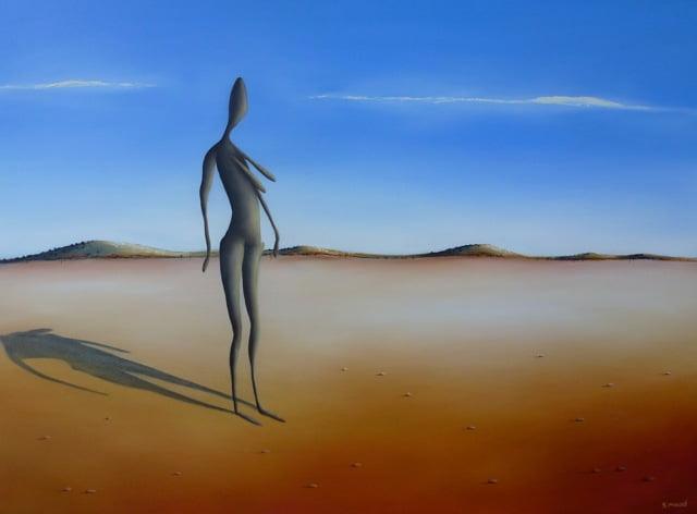 Woman Gromley Sculpture