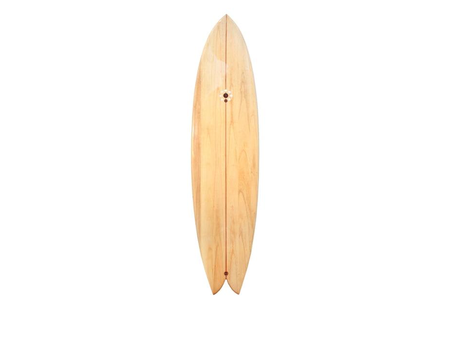 72 Fish Hybrid Wooden Surfboard