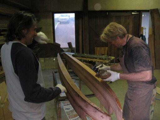 9Ft Gun Surfboard Gary And Harry Glueing Up
