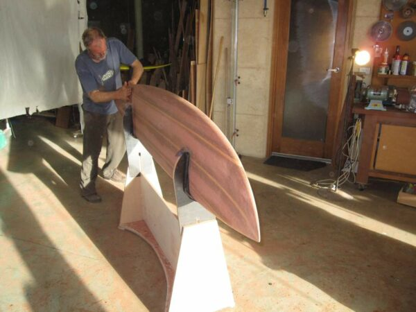 9Ft Gun Surfboard Red King Brown Jim Shaping