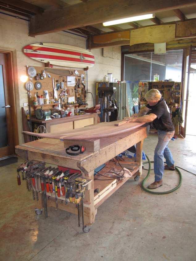 9Ft Gun Surfboard Red King Brown Gb Sanding