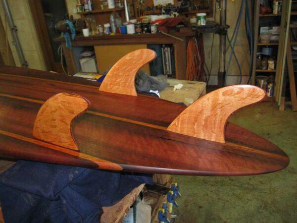 9Ft Gun Surfboard Fins Detail