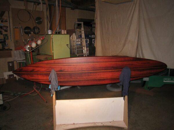 9Ft Gun Surfboard Oiled Red King Brown