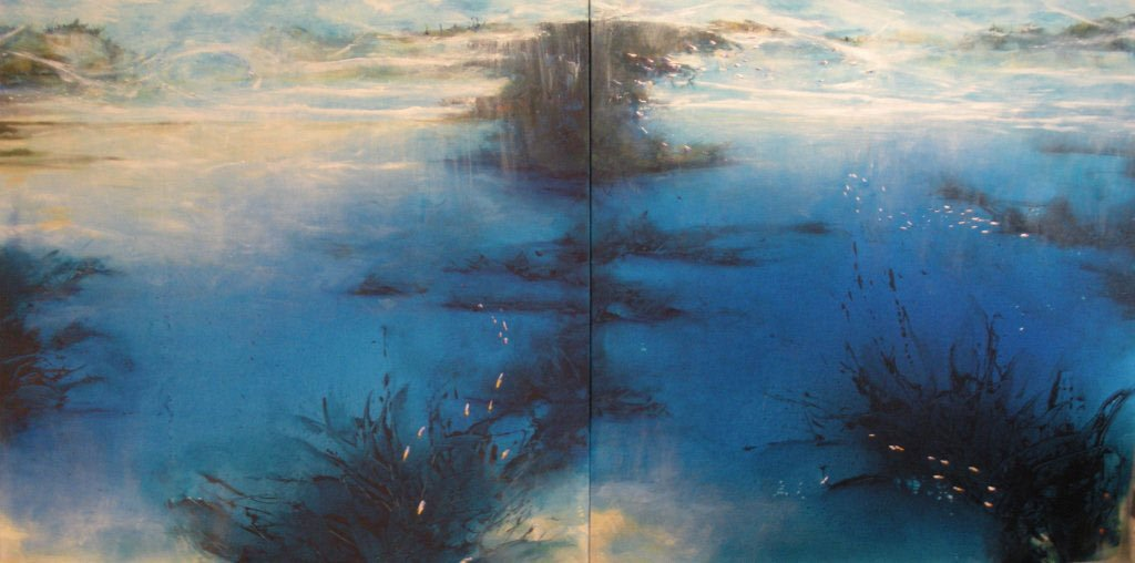 Back To The Ocean We Go Diptych