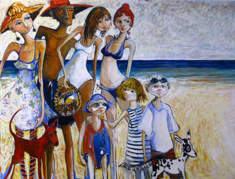 Christine Hingston Family And Friends 2012 200X152Cm