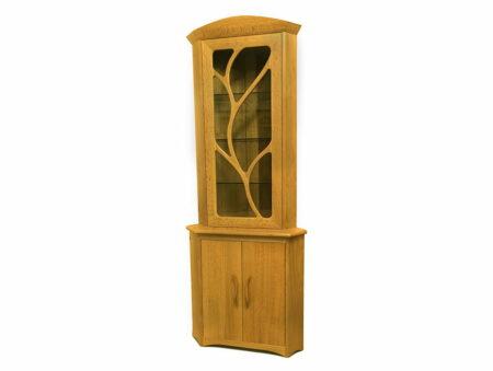 Contemporary Natural Display Corner Cabinet Sheoak Timber