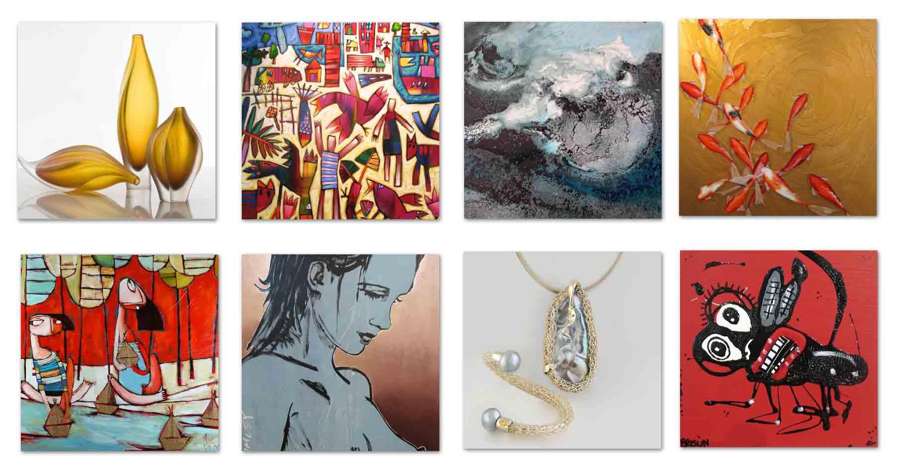 Gallery Shop Artist Collage