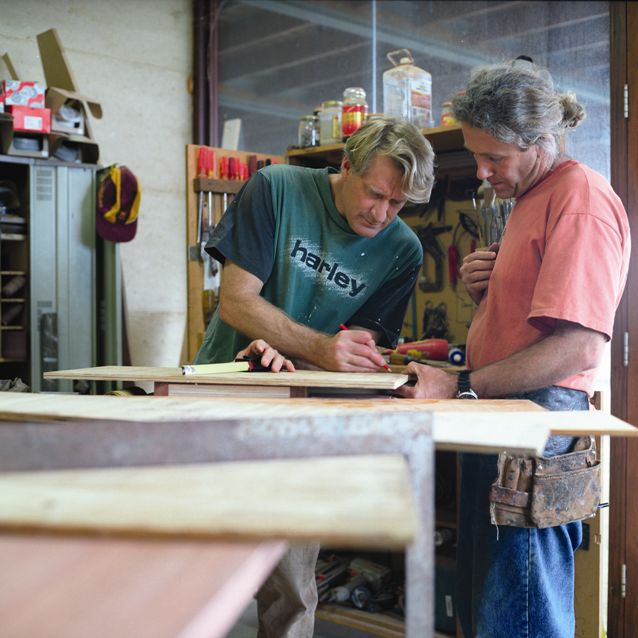 Gary And Dave In Workshop