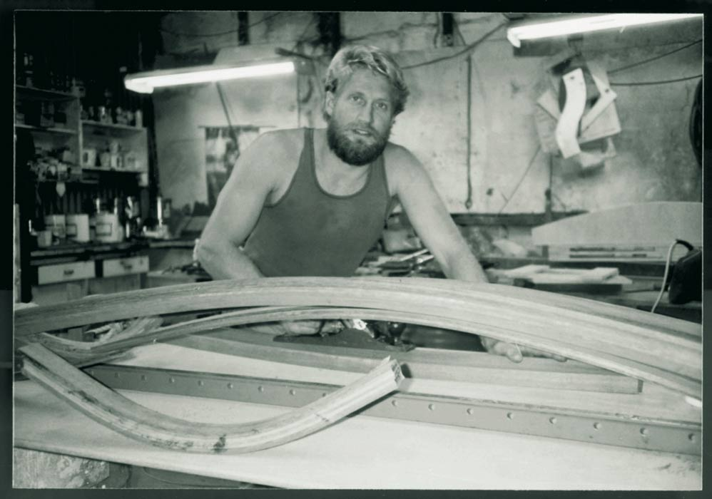 Gary Working On Web Chair Osorne Park 1988