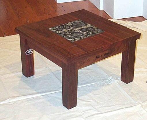 Homesteader Lamp Table With Orbicular Granite Insert
