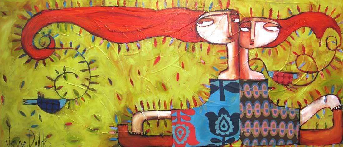 Janine Daddo Flower Birds 160x70cm