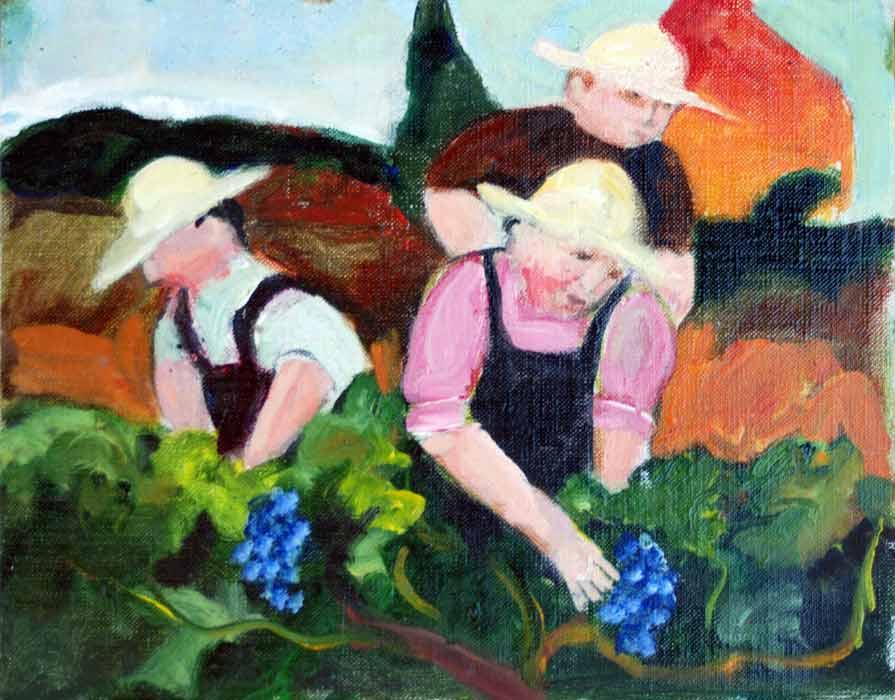 Murray Gill Three Men In Vineyard