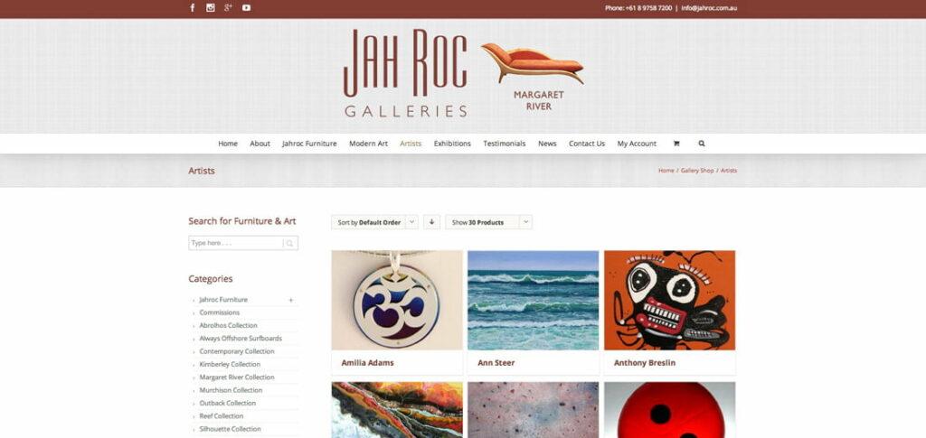 New Website Artists