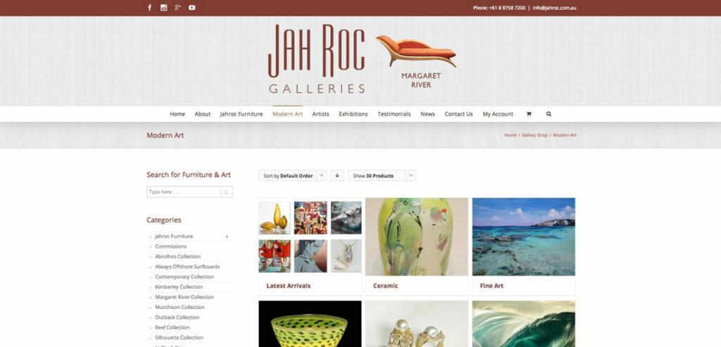 New Website Modern Art