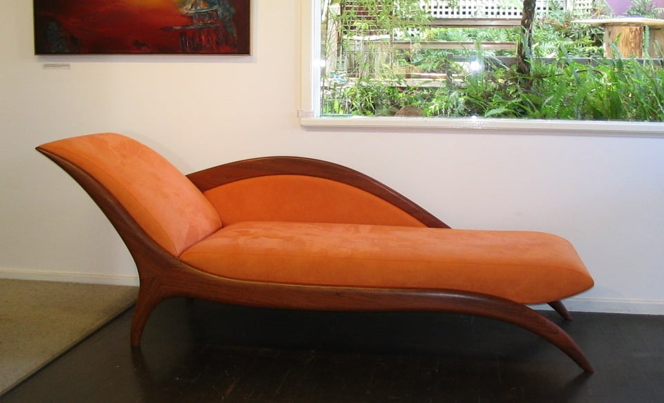 Resale Sues Chaise   Mandarin Fine Art