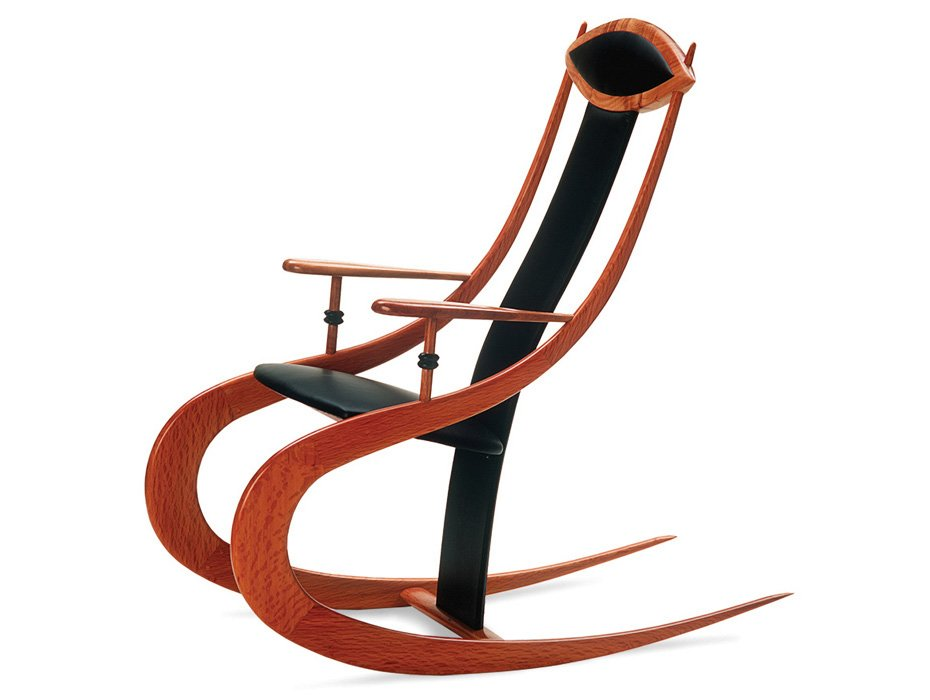 roo silhouette rocking chair fine furniture design fine art