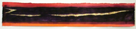 Shaun Atkinson Autumn Glow Mixed Work On Papergold Leaf 141Cmx24Cm
