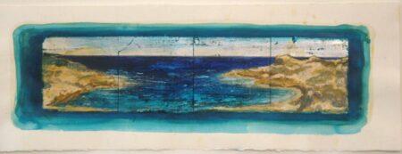 Shaun Atkinson Blue Room Mixed Work On Paper70Cmx26Cm