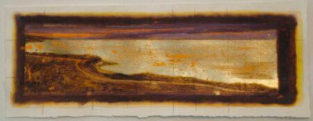 Shaun Atkinson Chosen Path Mixed Works On Papergold Leaf70Cmx26Cm
