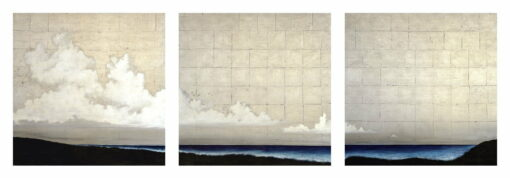Shaun Atkinson Silent Ocean Spaces Triptych 3X 120Cmx120Cm