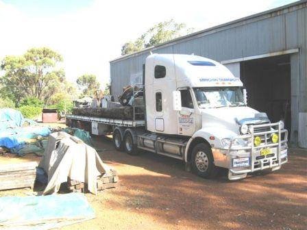 One of the dozens of semi loads from York to Margaret River