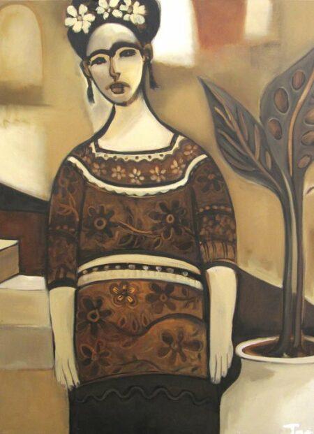 Jos Myers Frida Courtyard 91x121cm