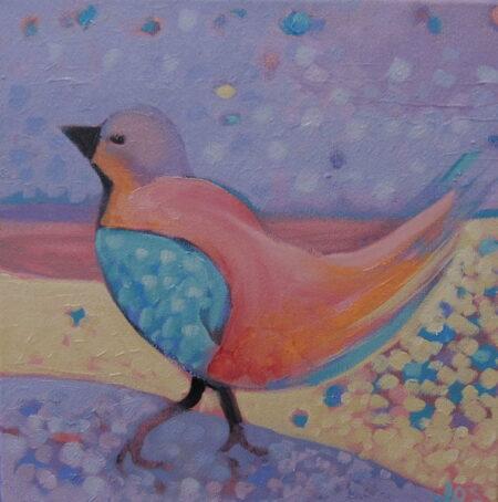 Jos Myers Mauve Bird 30x30cm