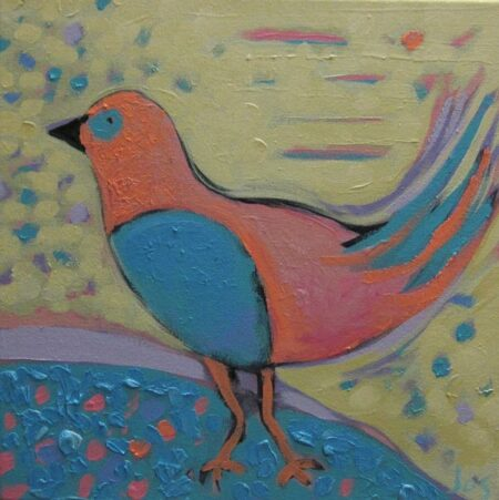 Jos Myers Pink Bird 30x30cm