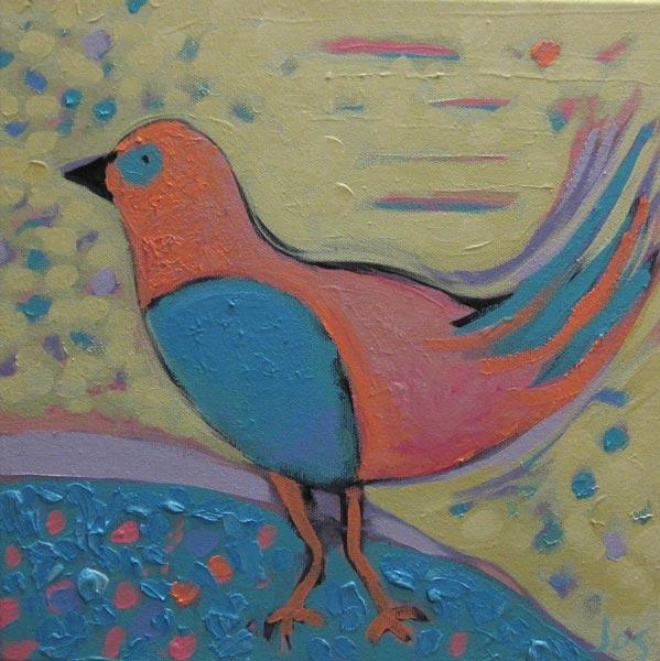Jos Myers   Pink Bird Fine Art