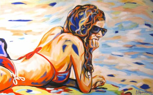 Shannon Hamilton On Cable Deep In Thought 121X76Cm