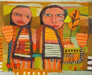 Yolande Barker Sisters 46X56Cm 1500