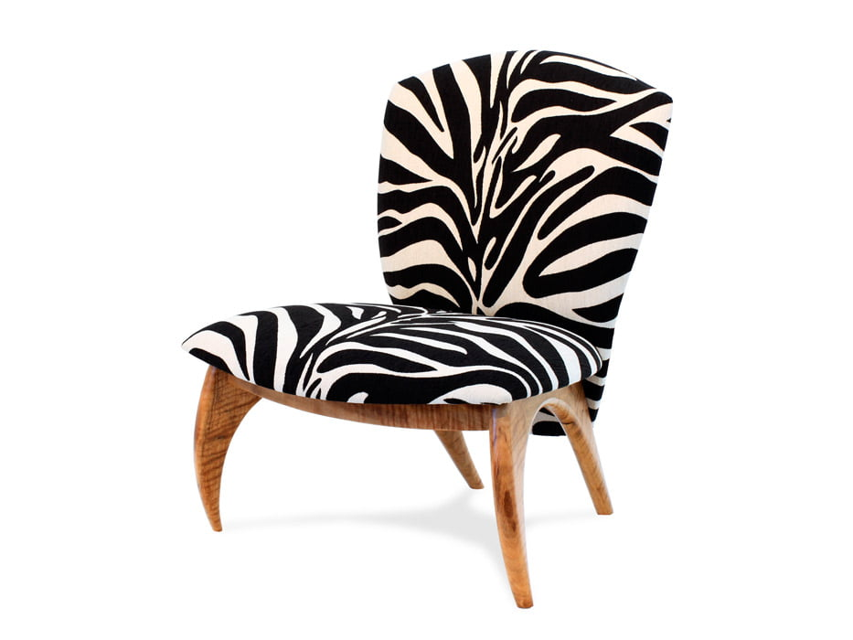 Cray Lounge Chair Zebra Fine Art