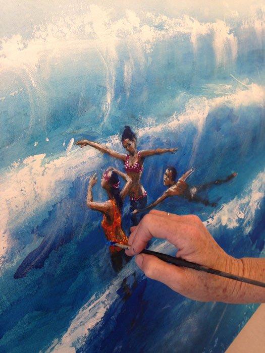 Di Taylor Artist Studio Finishing Detail Touches